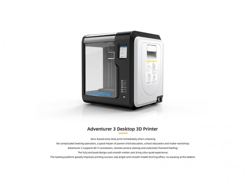 3D Printer FlashForge Adventurer 3 Wifi Black (FLASHFORGEADV3)