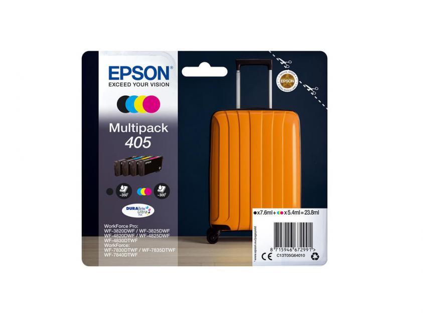 Ink Epson 405 4-Pack Black/Cyan/Magenta/Yellow 7.6ml (C13T05G64010)