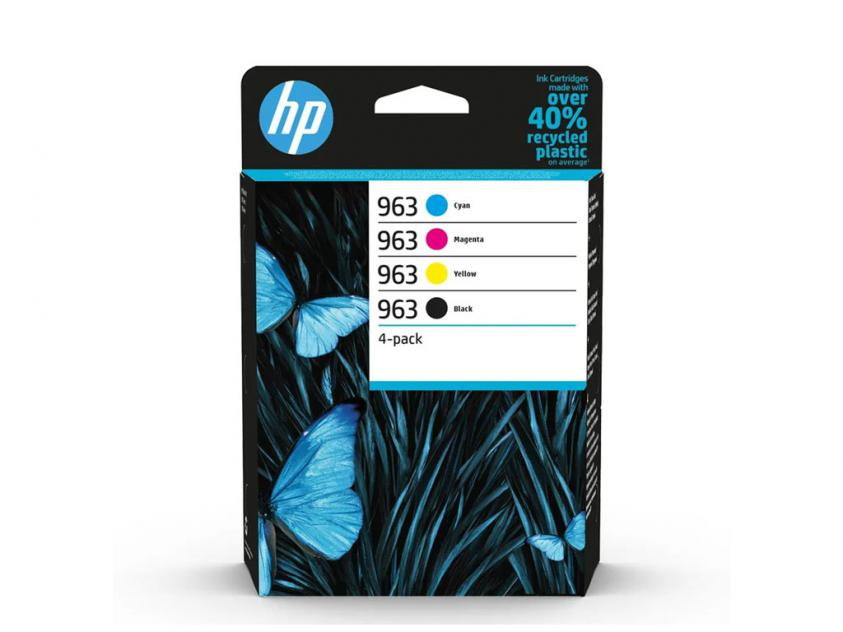 Ink HP 963 4-Pack Black/Cyan/Magenta/Yellow 1000Pgs/3x700Pgs (6ZC70AE)