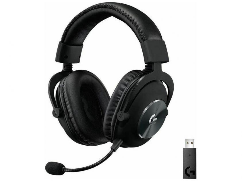 Gaming Headset Logitech G Pro Χ LightSpeed Wireless Black (981-000907)