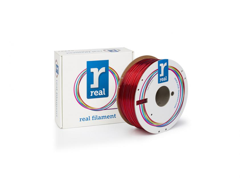 3D Printer Filament Real PETG 1.75mm Spool of 1Kg Translucent Red (NLPETGRED1000MM175)