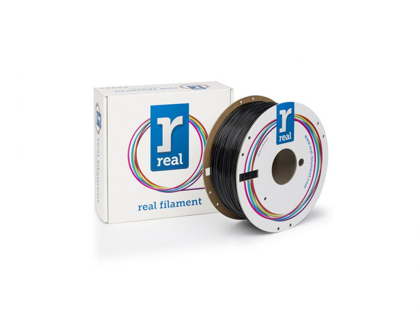 3D Printer Filament Real PETG 1.75mm Spool of 3Kg Black (NLPETGBLACK3KG)