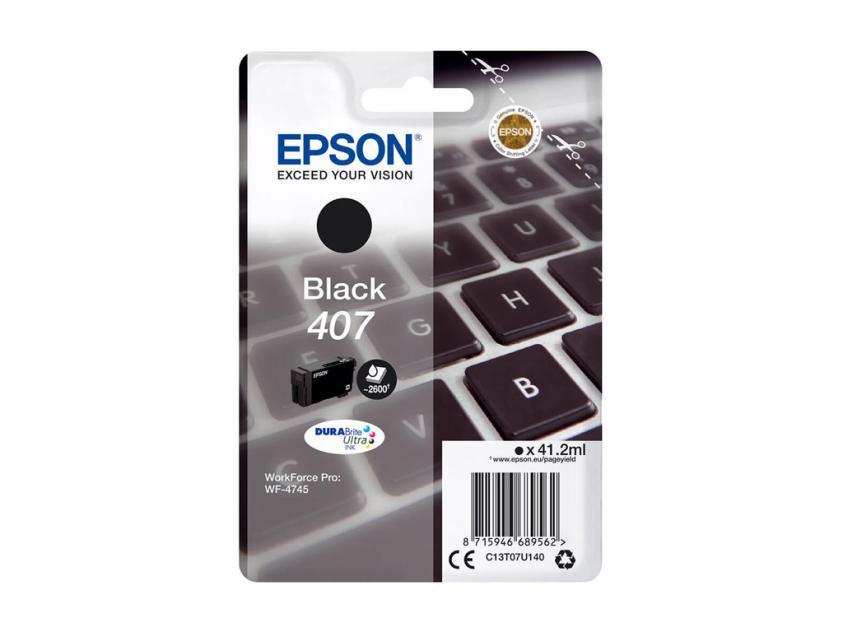 Ink Epson 407 Black 2500Pgs (C13T07U140)