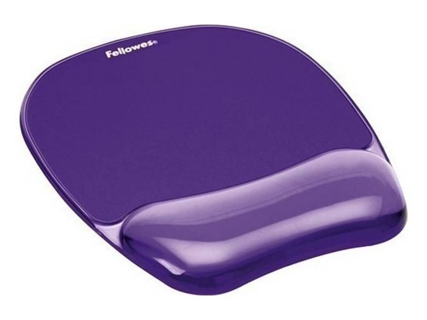 MousePad Fellowes Wrist Rest Crystal Purple (91441)
