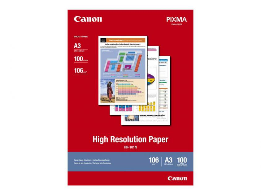 Photo Paper Canon High Resolution A3 106g/m² 100-Sheets (1033A005)