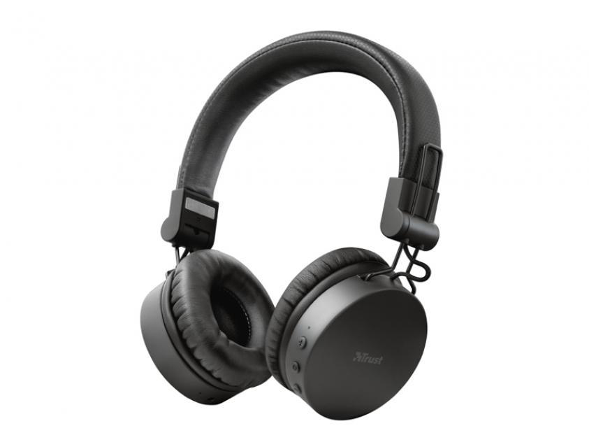 Headphones Trust Tones Onear Black (23551)