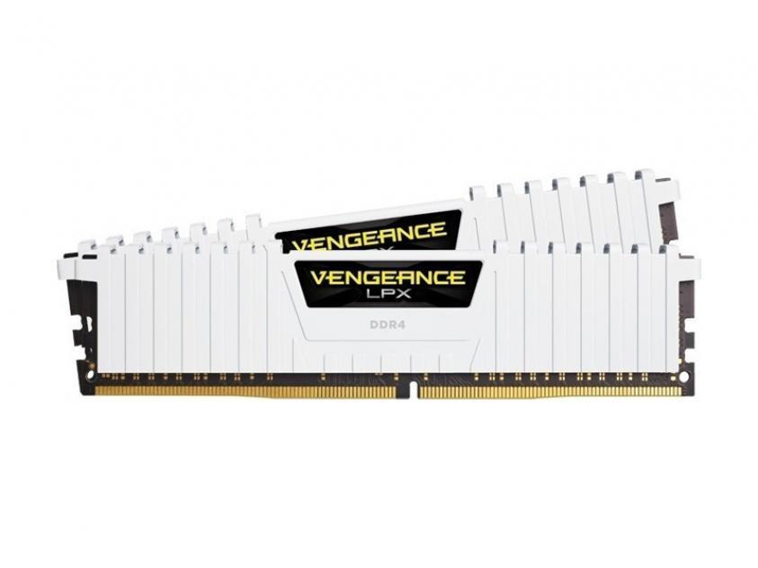 RAM Corsair Vengeance LPX 32GB DDR4 2666MHz CL16 White Kit (CMK32GX4M2A2666C16W)
