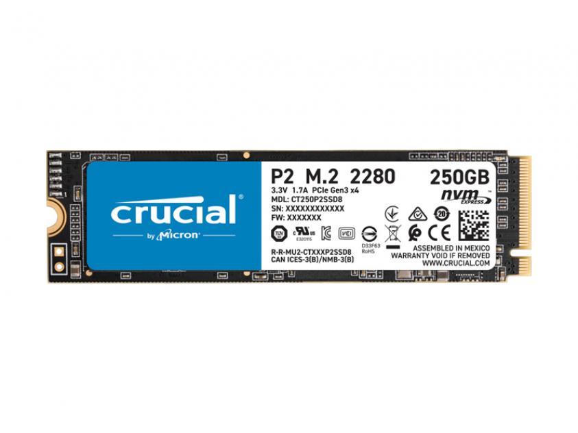 Internal SSD Crucial P2 250GB M.2 (CT250P2SSD8)