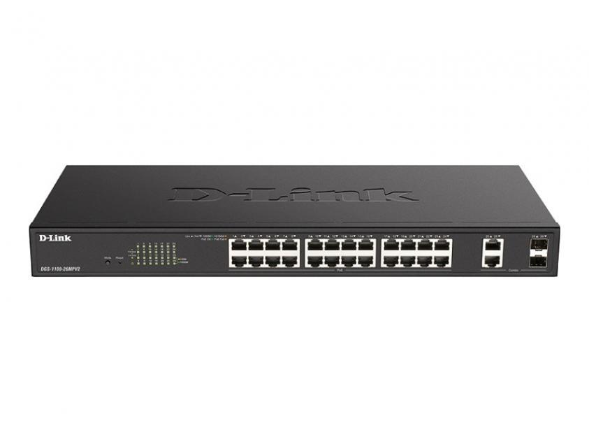 Switch D-Link DGS-1100-26MPV2 24-Port 10/100/1000 Mbps PoE (DGS-1100-26MPV2)