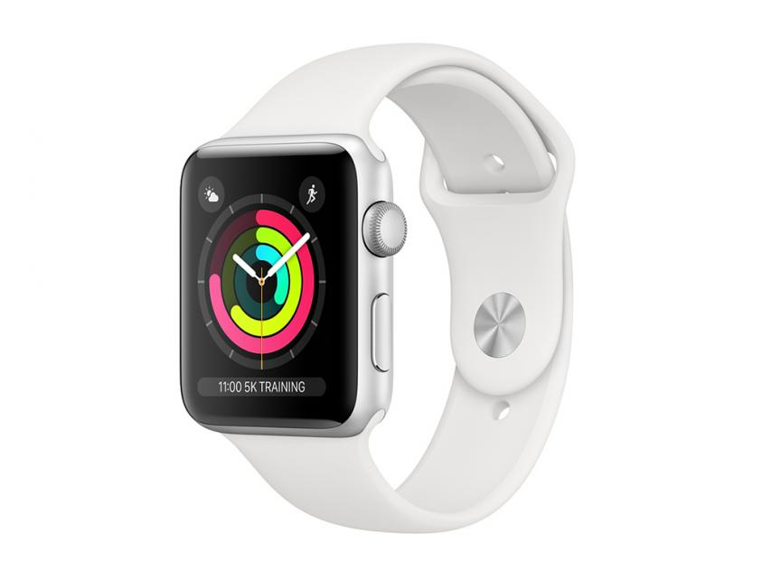 AppleWatch Series3 Aluminium with White Sport Band 38mm Silver (MTEY2GK/A)