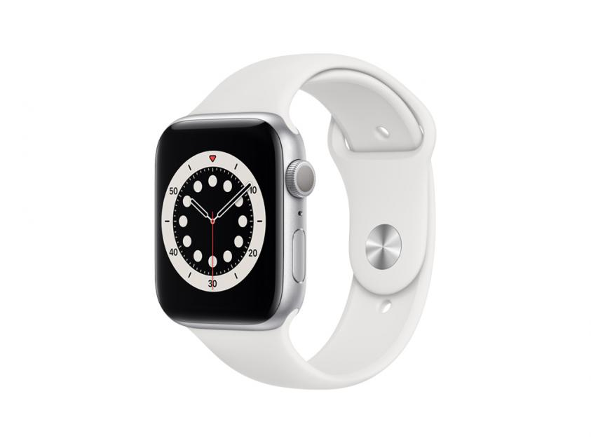 Apple Watch Series 6 Aluminium with White Sport Band 44mm Silver (M00D3GK/A)