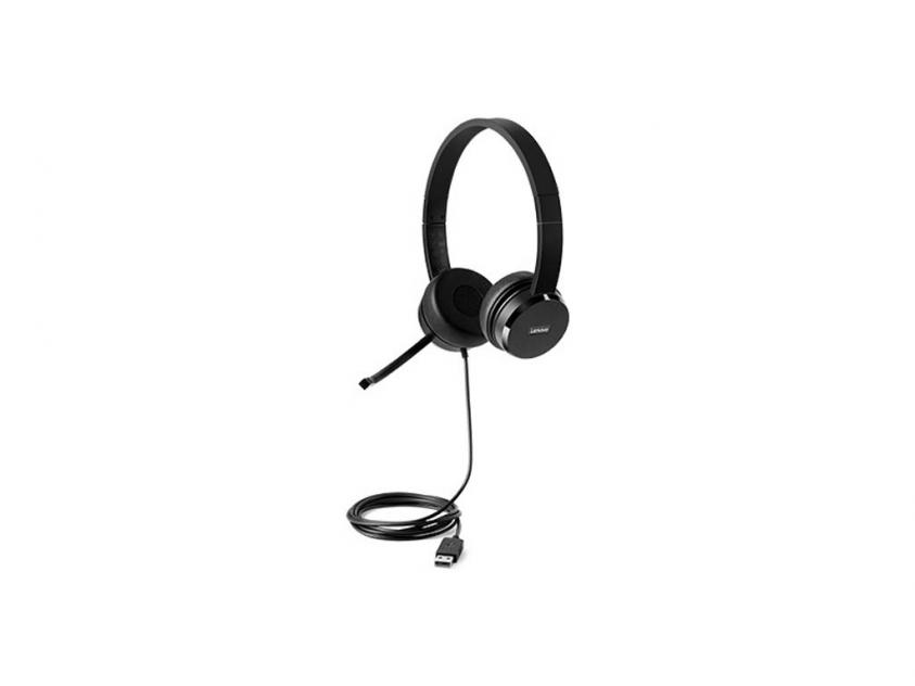 Headset Lenovo 100 Stereo Wired (4XD0X88524)