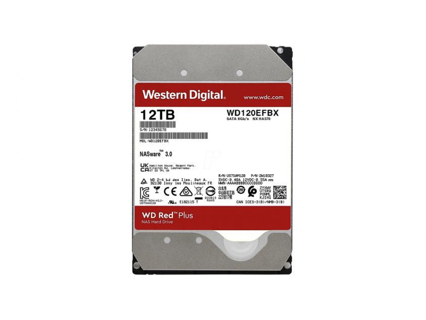 Internal HDD Western Digital Red Plus NAS 12TB SATA III 3.5-inch (WD120EFBX)
