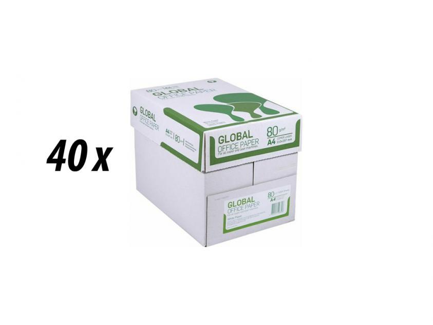 Paper Global A4 80g 40 Boxes (GLOBAL40BOXA4)