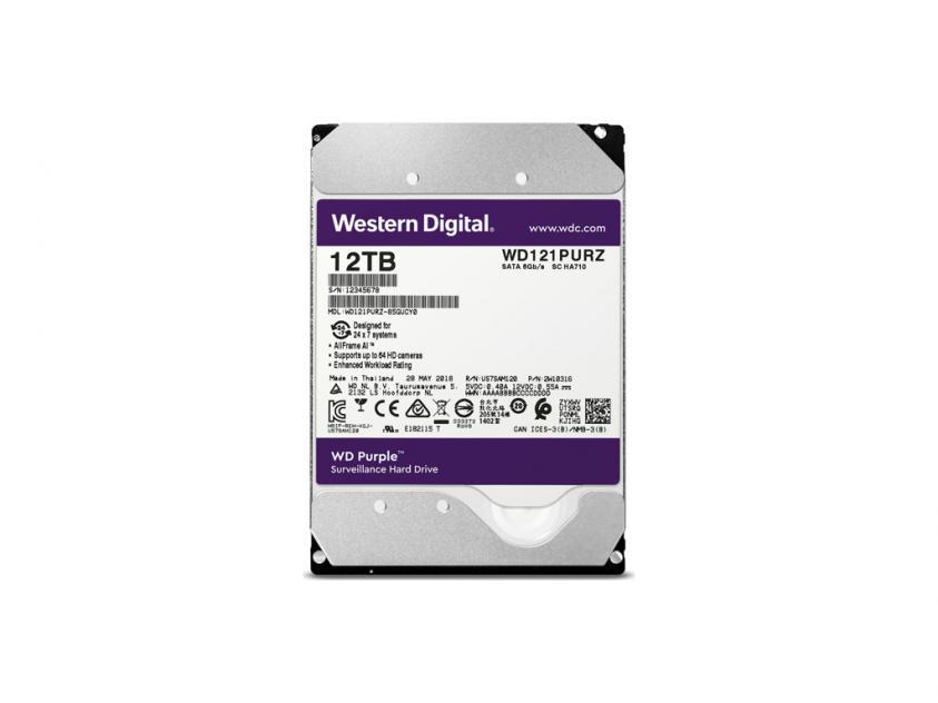 Internal HDD Western Digital Purple 12TB SATA III 3.5-inch (WD121PURZ)