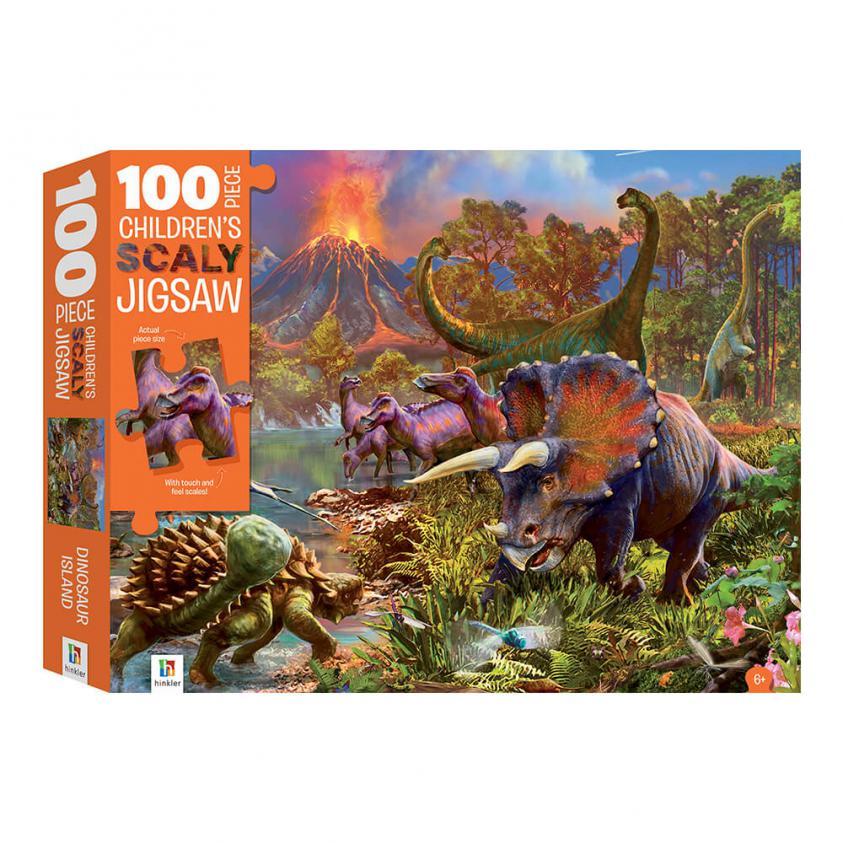 Jigsaw Touch & Feel Dinosaur Island Scaly 100P (9781488935572)