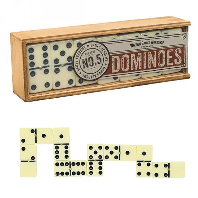 Vintage Board Games Wooden Games Workshop Dominoes (5060036537548)