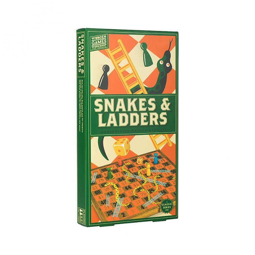 Vintage Board Games Wooden Games Workshop Snakes & Ladders (5060036537661)