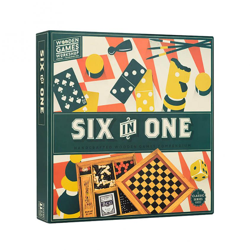 Vintage Board Games Wooden Games Workshop 6in1 Compendium (5060036538774)