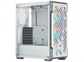 Case Corsair iCue 220T RGB Airflow Tempered Glass White (CC-9011174-WW)