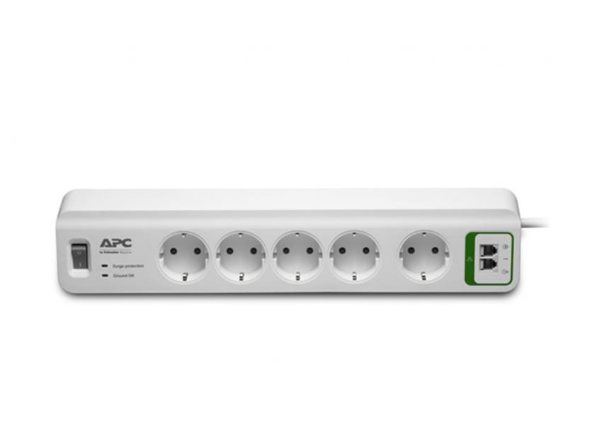 Power Strip APC Essential SurgeArrest 5-Outlets with Phone Protection (PM5T-GR)