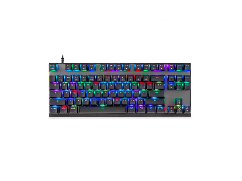 Gaming Mechanical Keyboard Motospeed K82 Black RGB GR Layout Red Switches (MT00159)