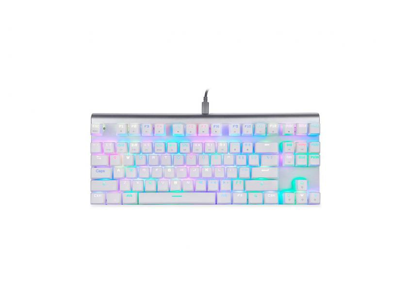 Gaming Mechanical Keyboard Motospeed CK101 White RGB GR Layout Red Switches (MT00122)