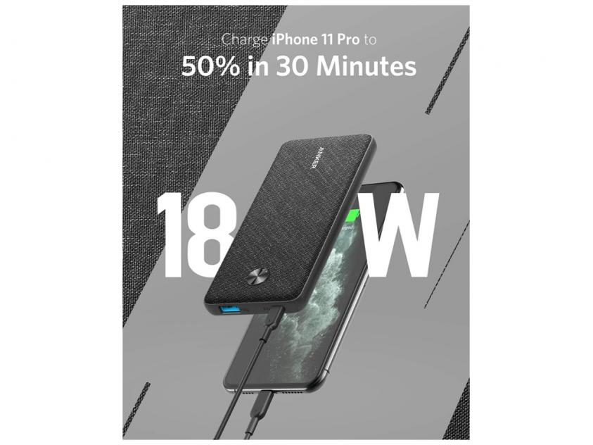 Powerbank Anker Powercore III Sense 10000mAh Black (A1231H11)