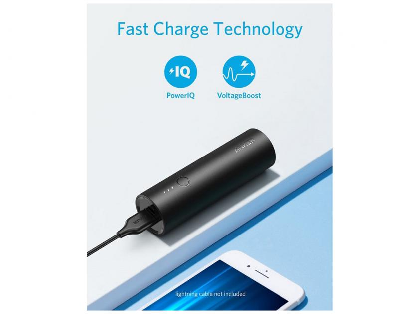 Powerbank Anker Powercore 5000mAh Black (A1109G11)