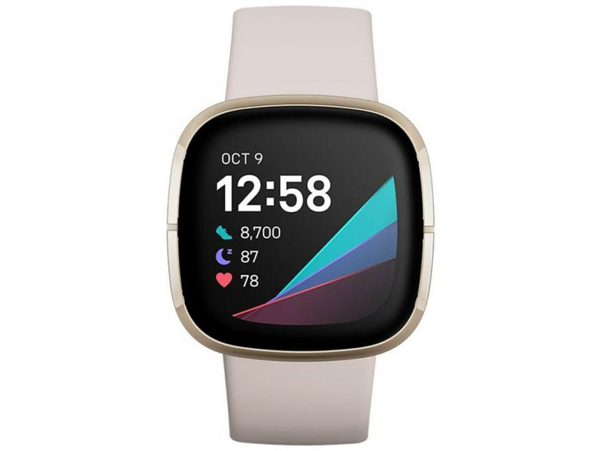 SmartWatch Fitbit Sense Lunar White/Soft Gold (FB512GLWT)