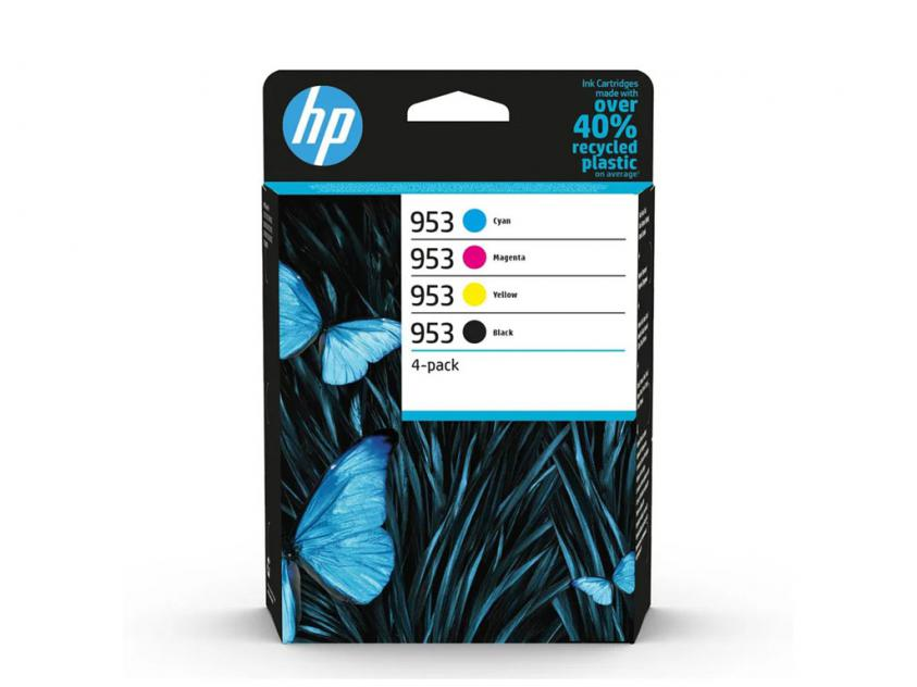Ink HP 953 4-Pack Black/Cyan/Magenta/Yellow 1000Pgs/3x700Pgs (6ZC69AE)