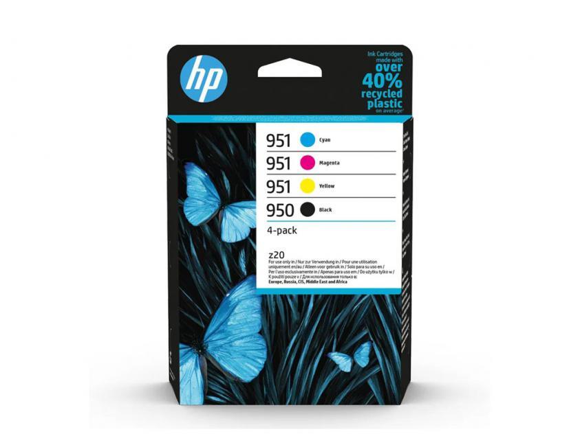 Ink HP 950/951 4-Pack Black/Cyan/Magenta/Yellow 1000Pgs/3x700Pgs (6ZC65AE)