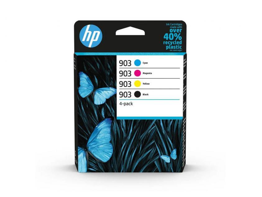 Ink HP 903 4-Pack Black/Cyan/Magenta/Yellow 300Pgs/3x315Pgs (6ZC73AE)