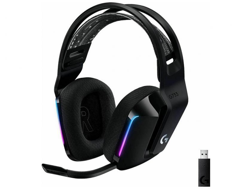 Gaming Headset Logitech G733 LightSpeed RGB Wireless Black (981-000864)