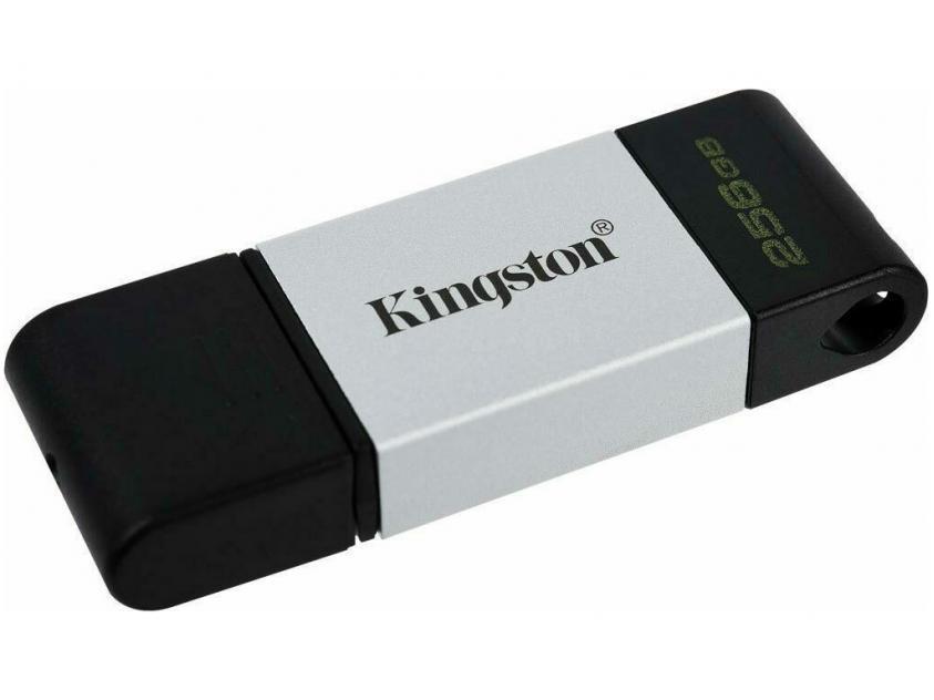 USB Flash Drive Kingston DataTraveler 80 256GB 3.2 Type-C Silver/Black (DT80/256GB)
