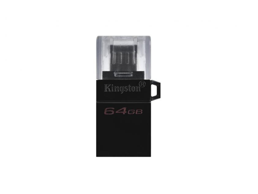 USB Flash Drive Kingston DataTraveler microDuo G2 64GB 3.0 Black (DTDUO3G2/64GB)
