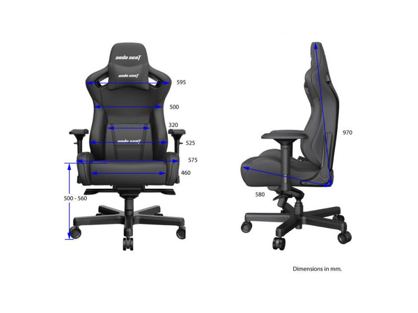 Gaming Chair Anda Seat AD12XL Kaiser-II Black (AD12XL-07-B-PV-B01)