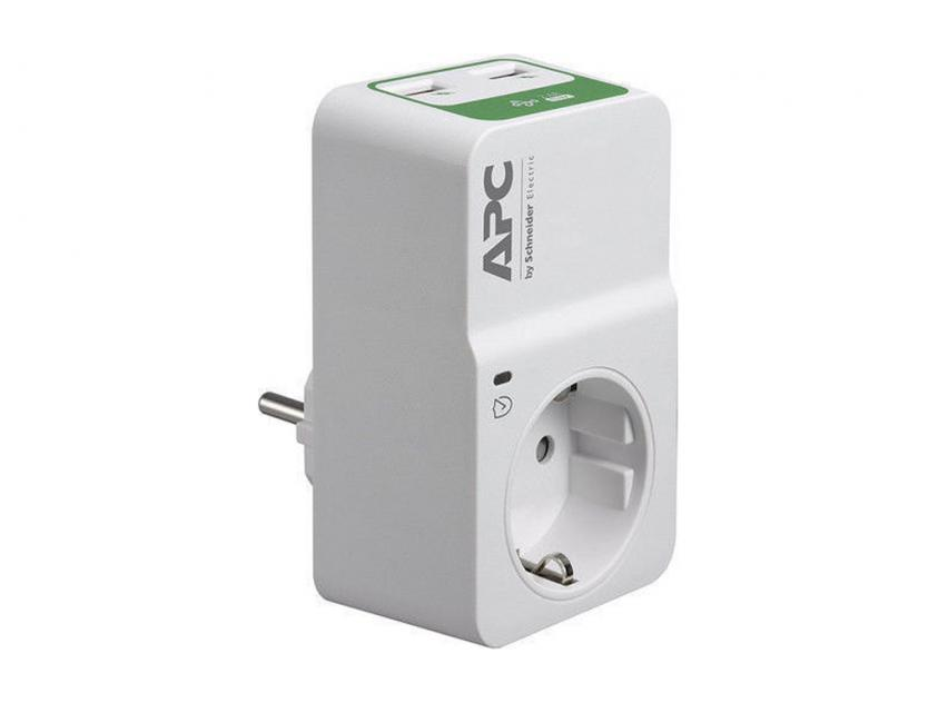 Power Strip APC Essential SurgeArrest 2x USB Wall Adapter (PM1WU2-GR)