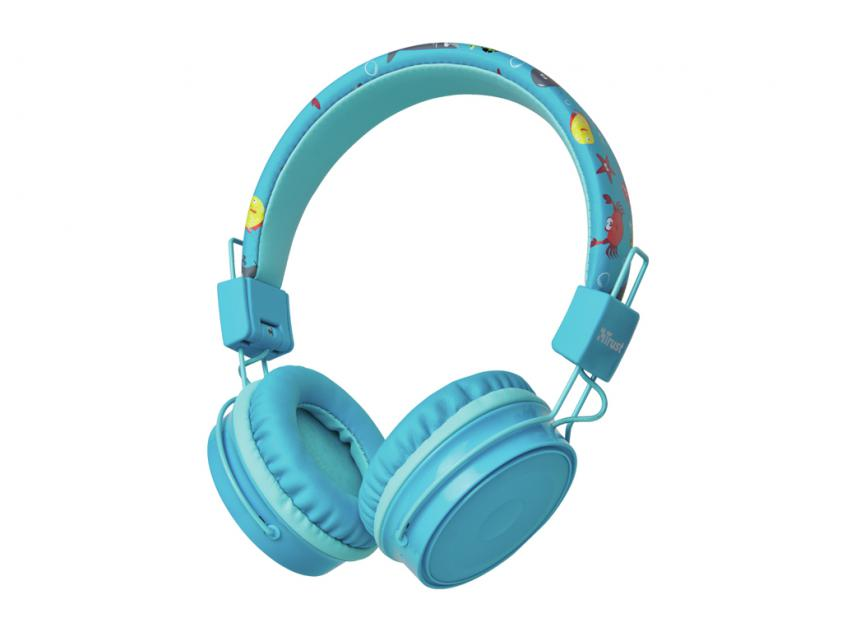 Headphones Trust Comi Bluetooth Wireless Kids Blue (23607)