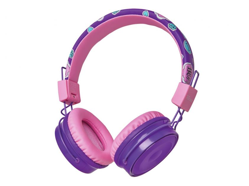 Headphones Trust Comi Bluetooth Wireless Kids Purple (23608)