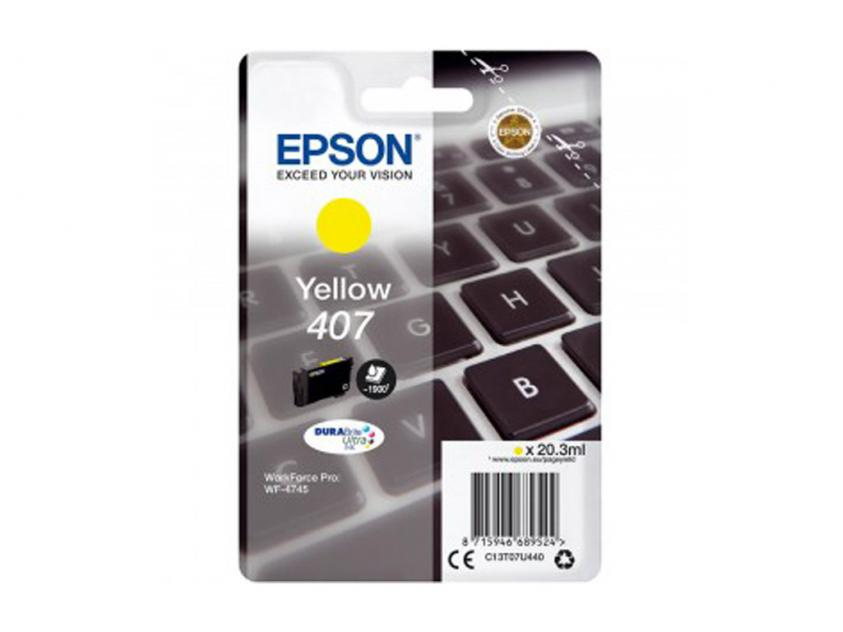 Ink Epson 407 Yellow 1900Pgs (C13T07U440)