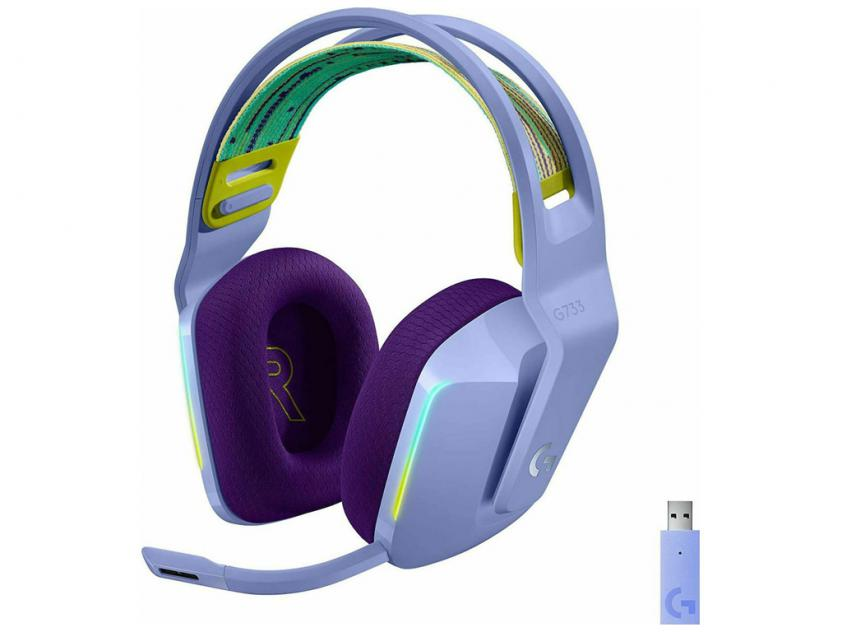 Gaming Headset Logitech G733 Lightspeed RGB Lilac (981-000890)