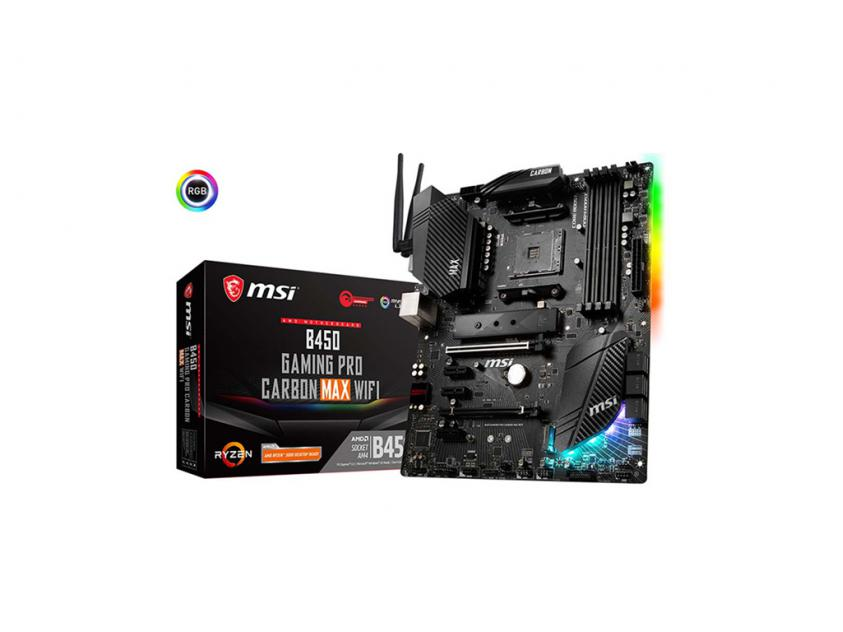 Motherboard MSI B450 Gaming Pro Carbon Max WiFi (7B85-011R)