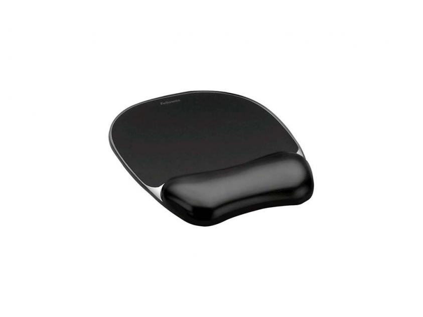 MousePad Fellowes Wrist Rest Crystal Black (9112101)