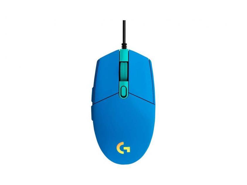 Gaming Mouse Logitech G102 Lightsync Blue (910-005801)