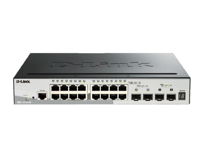 Switch D-Link DGS-1510-20 16-Port 10/100/1000 Mbps (DGS-1510-20)
