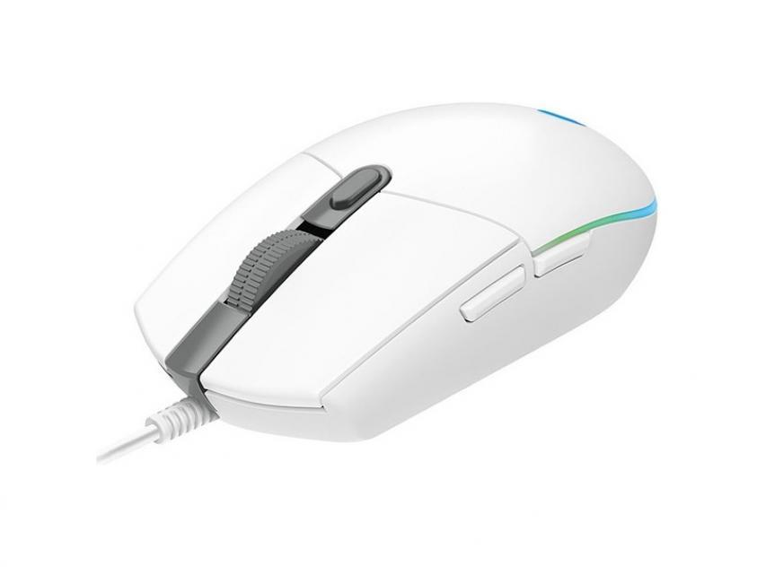 Gaming Mouse Logitech G102 Lightsync White (910-005824)