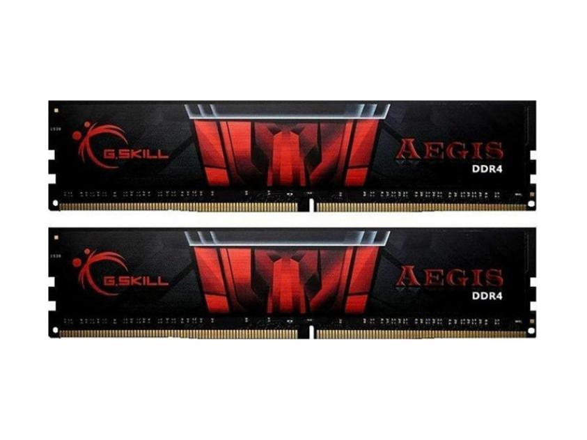 RAM G.Skill Aegis 8GB DDR4 2400MHz CL15 Kit (F4-2400C15D-8GIS)