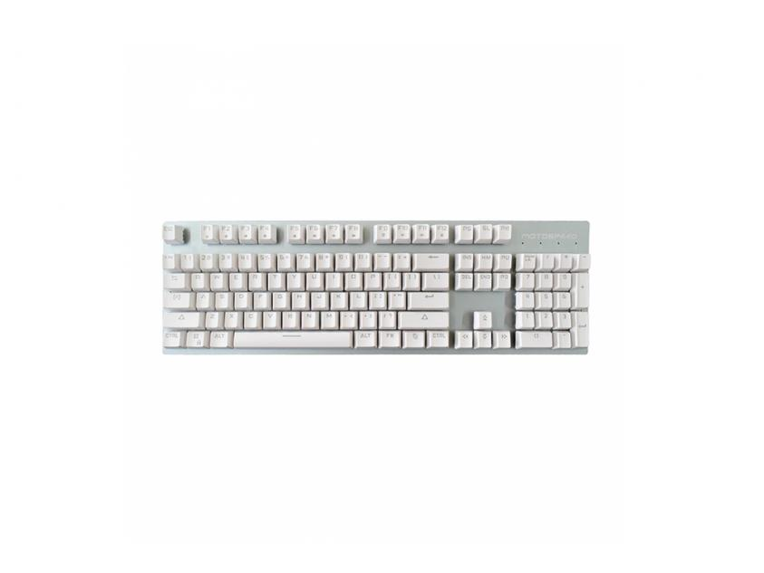 Gaming Mechanical Keyboard Motospeed GK89 White Wireless Ice Blue Backlit Red Switch GR Layout (MT00150)