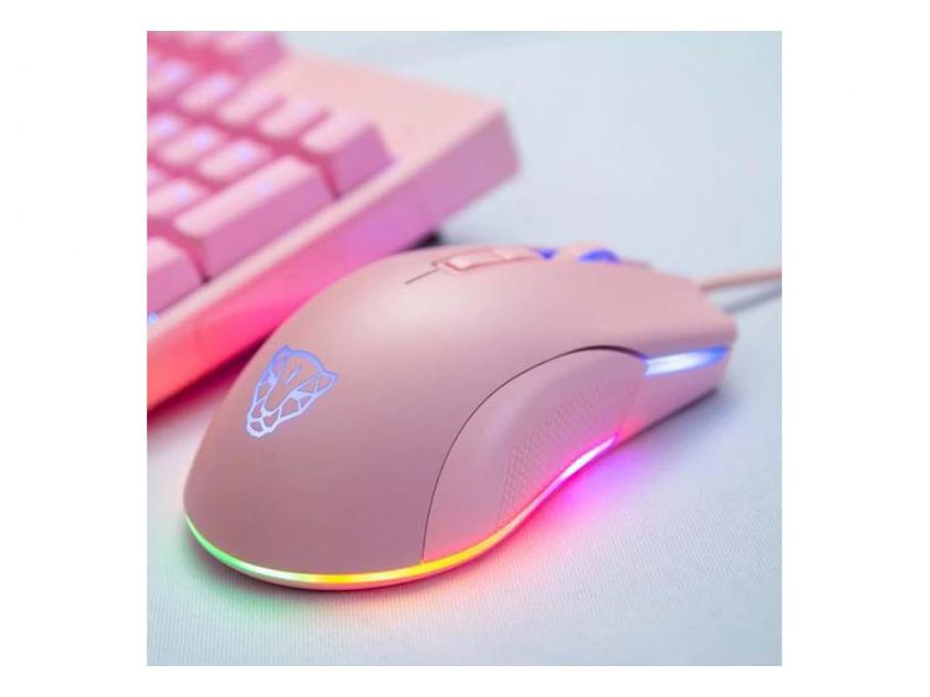 Gaming Mouse Motospeed V70 Wired Zeus 6400 Pink (MT00199)